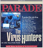 Thumbnail of Cover of February 8, 1998 Parade magazine. (Used with permission of Parade Publications and Robin Thomas.)