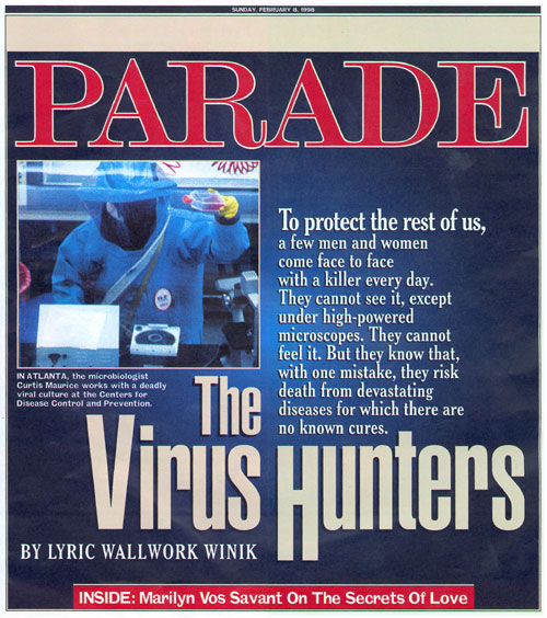 Cover of February 8, 1998 Parade magazine. (Used with permission of Parade Publications and Robin Thomas.)
