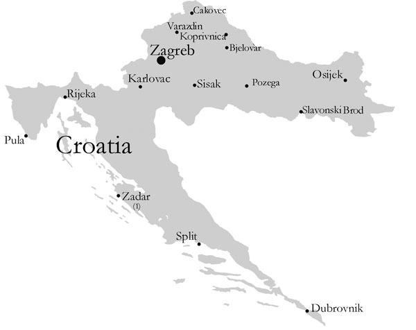Croatian microbiology laboratories participating in surveillance of antimicrobial resistance