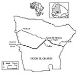 Thumbnail of Map of Hodh el Gharbi region, Mauritania.
