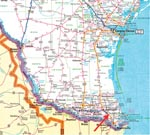 Thumbnail of San Benito, Texas, where three dogs died of Chagas disease.
