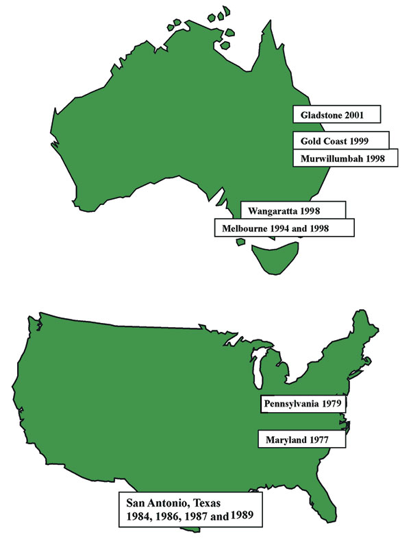 Australian and American clinical isolates of Photorhabdus.