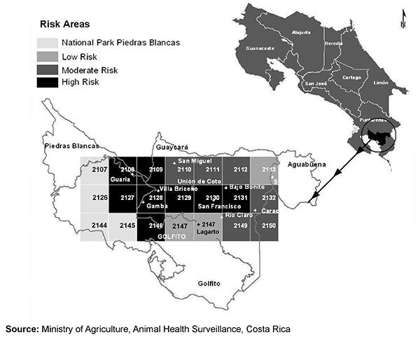 Human rabies cases, Costa Rica, September 2001.