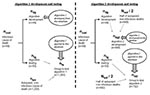 Thumbnail of Flow chart for algorithm 1 and 2 development and testing.