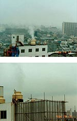 Thumbnail of Spraying scenes from the Aum Shinrikyo headquarters building (photographs taken July 1, 1993, by the Department of Environment, Koto-ward).
