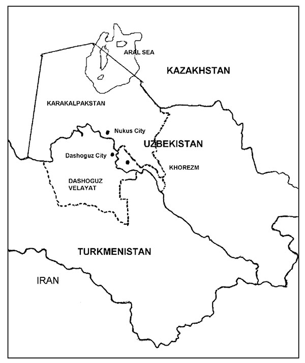 Aral Sea area, Uzbekistan and Turkmenistan.