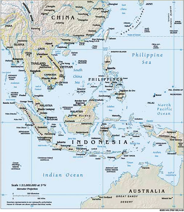 The Palau Islands. Palau map courtesy of The World Factbook, Central Intelligence Agency, 2004. http://www.cia.gov/cia/publications/factbook/geos/ps.html