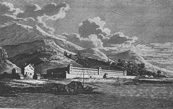 Lazaretto at Genoa, founded in 1467 (19).
