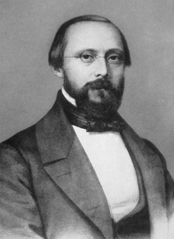 Rudolf Virchow. Photograph taken during his 7 years in Würzburg, Germany (1849–1856), as professor of pathology. Courtesy of the Institute of Pathology, University of Würzburg.