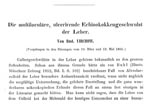 Thumbnail of Reproduction of the beginning of Virchow's original publication (3) of a case of hepatic multilocular echinococcosis and his proof that the disease was caused by an Echinococcus sp.