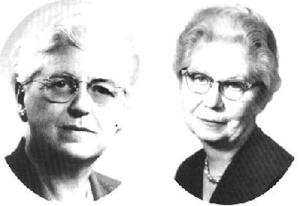 Pearl Kendrick (left) and Grace Eldering. Photo credit: Michigan Women's Hall of Fame (www.michiganwomenshalloffame.org).