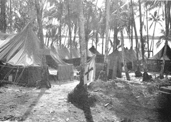 New Georgia Island medical clearing station, Solomon Islands, 1943.