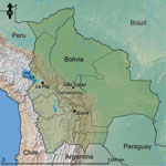 Thumbnail of Location of Villa Tunari, Department of Cochabamba, Bolivia, the area where patients with hantavirus infection were recruited. The constitutional (Sucre) and administrative (La Paz) capitals of Bolivia are shown for reference.