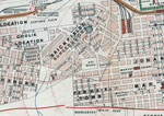 Thumbnail of Central area of Johannesburg, South Africa, in 1904, showing the relative positions of the Coolie Location, Burgersdorp, and Market Square.  Map held at the Witwatersrand Library, University of the Witwatersrand, Johannesburg, South Africa, and available at http://innopac.wits.ac.za/search/?searchtype=t&SORT=D&searcharg=plan+of+johannesburg+and+suburbs