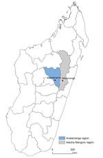 Thumbnail of Locations of Antananarivo and Moramanga in Madagascar.