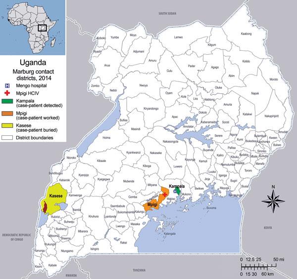 Figure 1 Isolated Case of Marburg Virus Disease Kampala Uganda