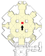 Thumbnail of Plan of the crypt of the Medici Chapel with the position of the tomb of Maria Salviati. (Archive of the Division of Paleopathology. University of Pisa.)