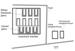 Morgan Lawnet Report: Thumbnail of Diagram of study site indicating market and slaughterhouse settings, Abu Dhabi, United Arab Emirates.