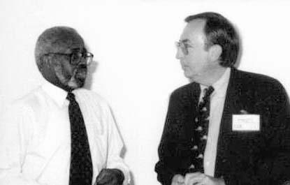 George Hill (L), Meharry Medical College, Nashville, Tennessee, USA; Fred Murphy, University of California, Davis, California, USA