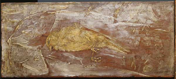 "Dead Bird, by the influential 19th-century American artist Albert Pinkham Ryder (1847–1917), was first seen by Duncan Phillips no later than 1916 but was not purchased for the collection until it became available a decade later. The major scholarly catalog of The Phillips Collection, The Eye of Duncan Phillips: a Collection in the Making (1), calls Dead Bird ""one of Ryder's most powerful images,"" noting that it ""explores a recurrent illusory theme: the coexistence of the corporeal and the ethere"