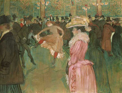 Henri de Toulouse-Latrec (1864–1901). At the Moulin Rouge: The Dance (1890). Oil on canvas (115.6 cm × 149.9 cm). The Henry P McIlhenny Collection in memory of Frances P McIlhenny, 1986. Philadelphia Museum of Art, Philadelphia, Pennsylvania, USA.