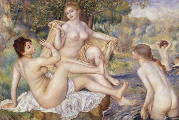 Pierre Auguste Renoir (1841–1919). The Great Bathers (1884–1887). Oil on canvas (117.8 cm × 170.8 cm) The Mr and Mrs Carroll S Tyson, Jr Collection, 1963. Philadelphia Museum of Art, Philadelphia, Pennsylvania, USA.