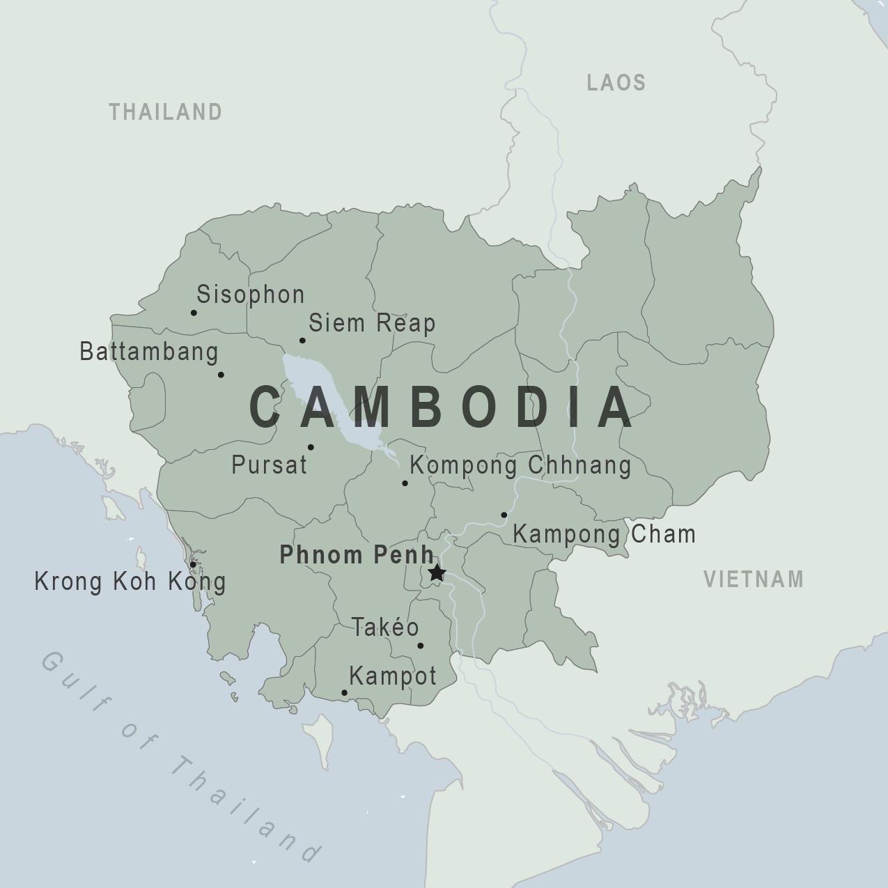 cambodia on the map Cambodia Traveler View Travelers Health Cdc cambodia on the map