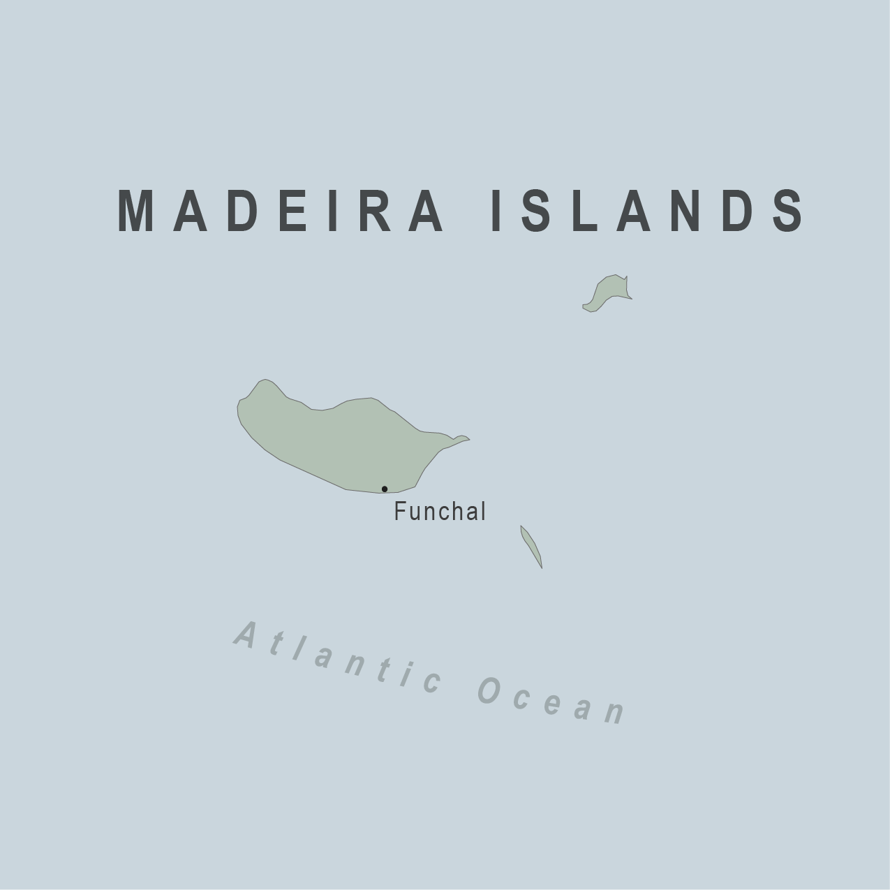 Map - Madeira Islands (Portugal)