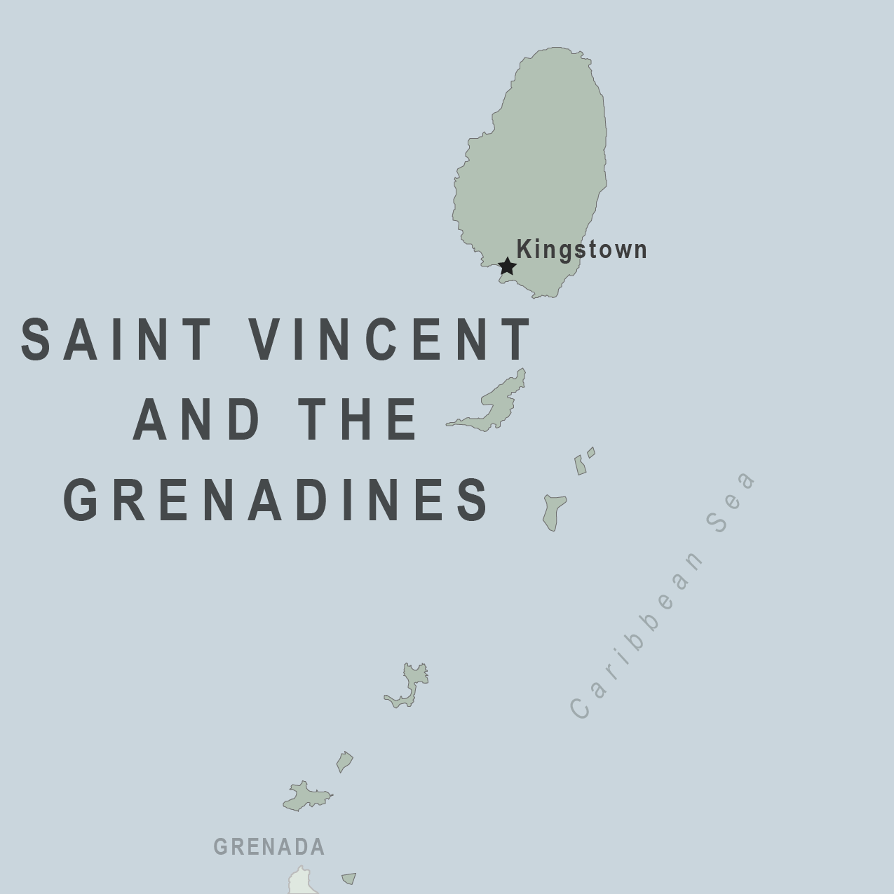 Map - Saint Vincent and the Grenadines