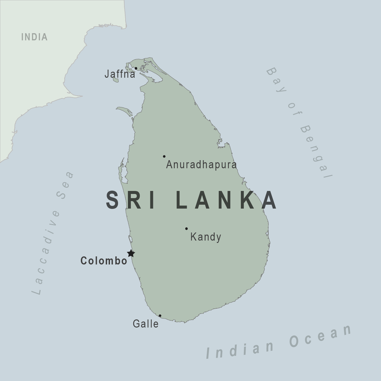 Map - Sri Lanka