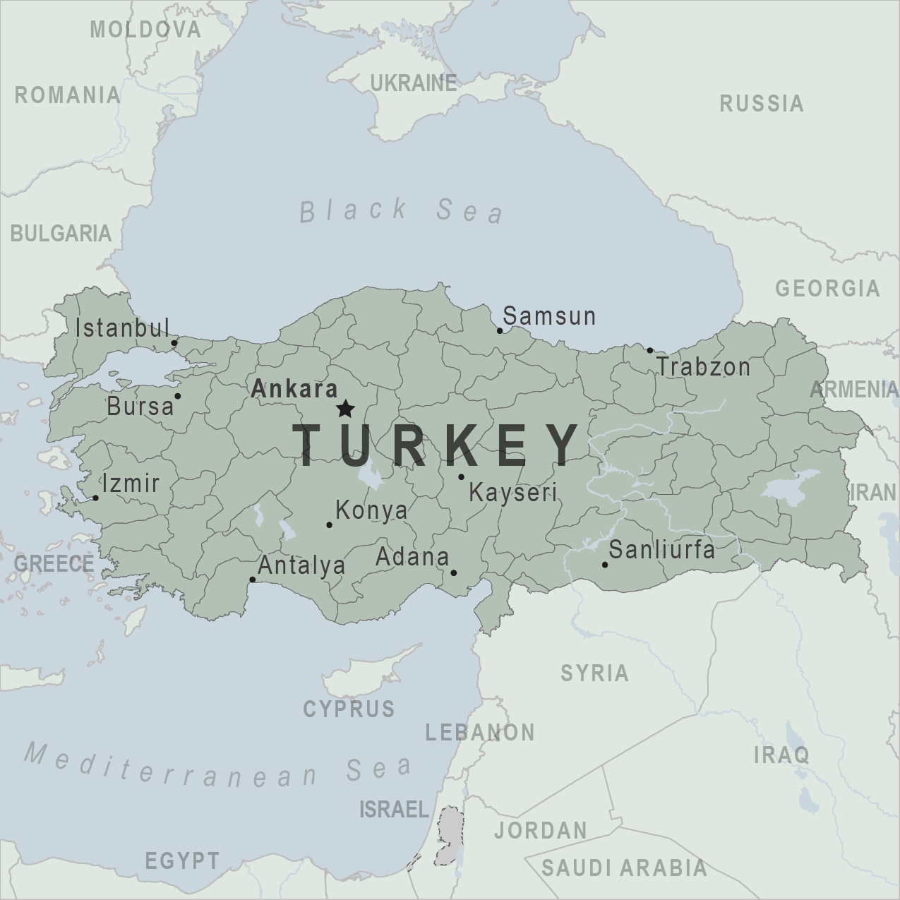 Map - Turkey
