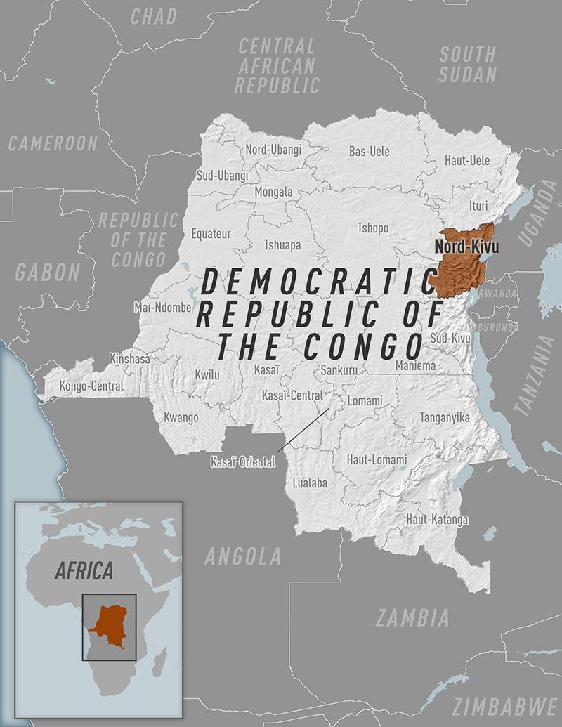Ebola DRC map
