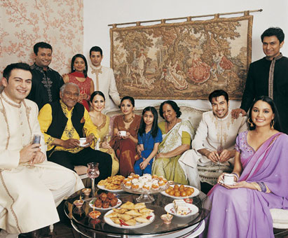 Indian family gathering