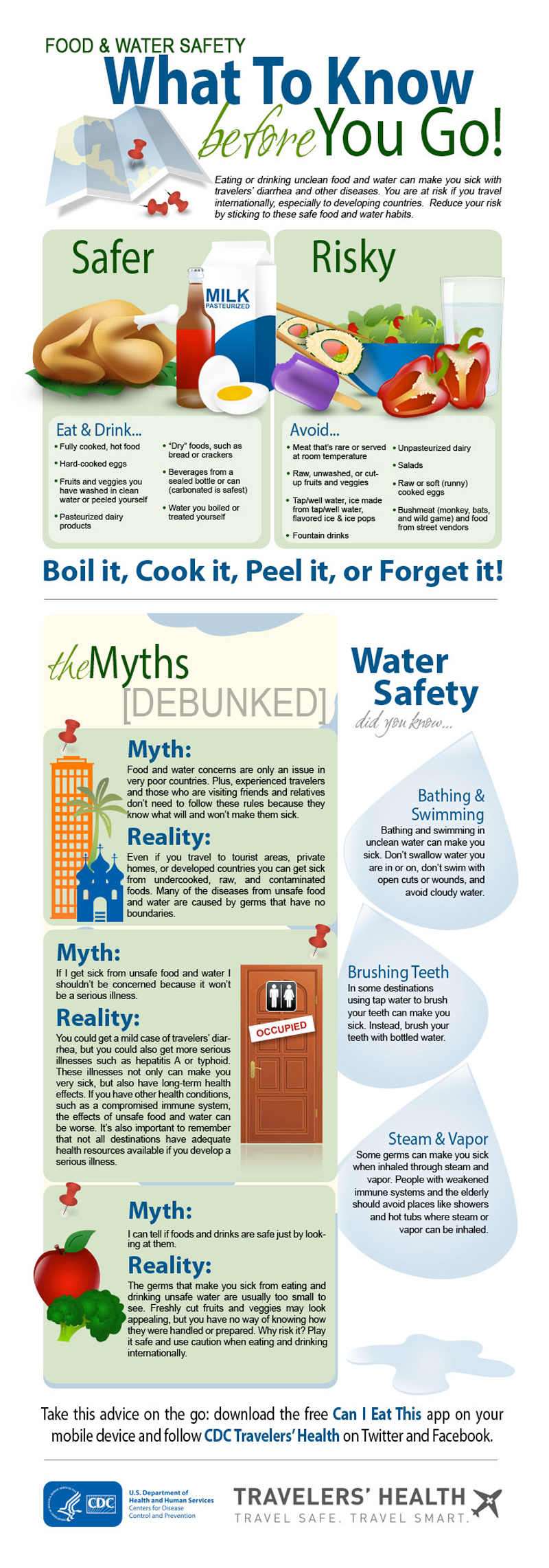 Infographic: Food and water safety - what to know before you go