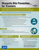 Infographic - mosquito bite prevention for travelers