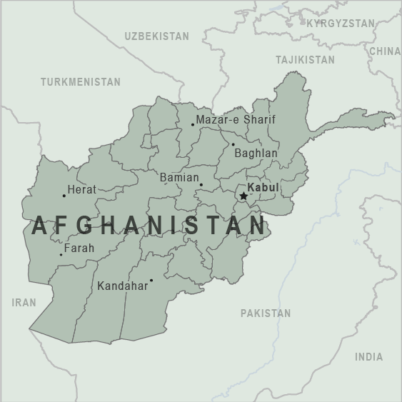 Map - Afghanistan