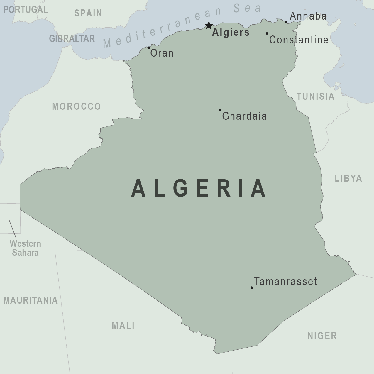 Health Information For Travelers To Algeria Traveler View - Cities map of algeria