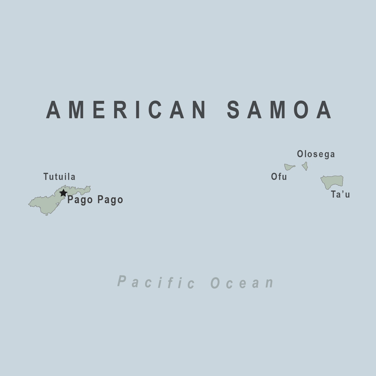 Map - American Somoa