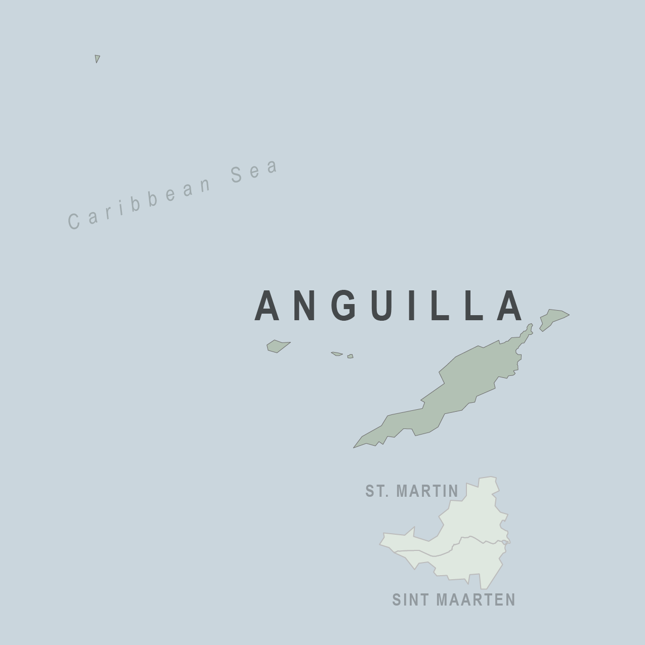 Map - Anguilla (U.K.)