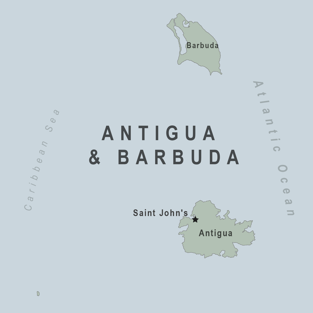 Map - Antigua and Barbuda