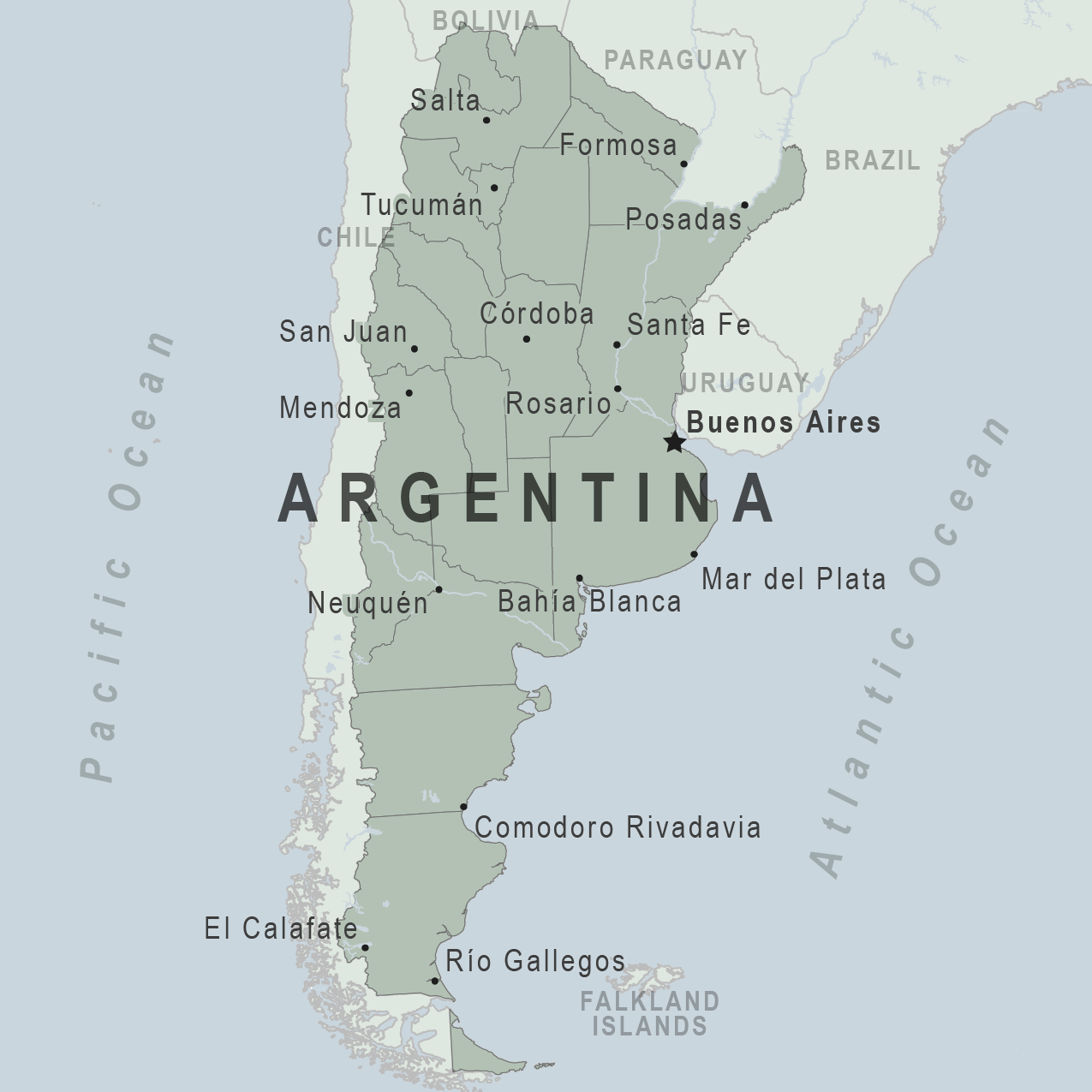 Health Information For Travelers To Argentina Traveler View - Argentina map cities
