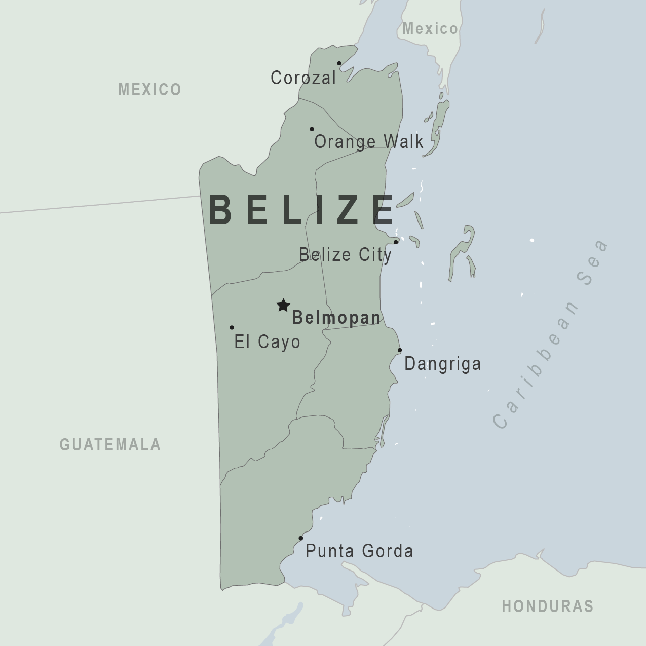 Map - Belize