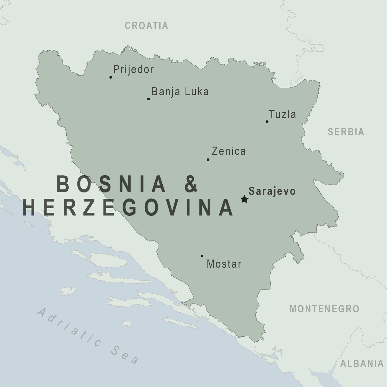 Map - Bosnia and Herzegovina