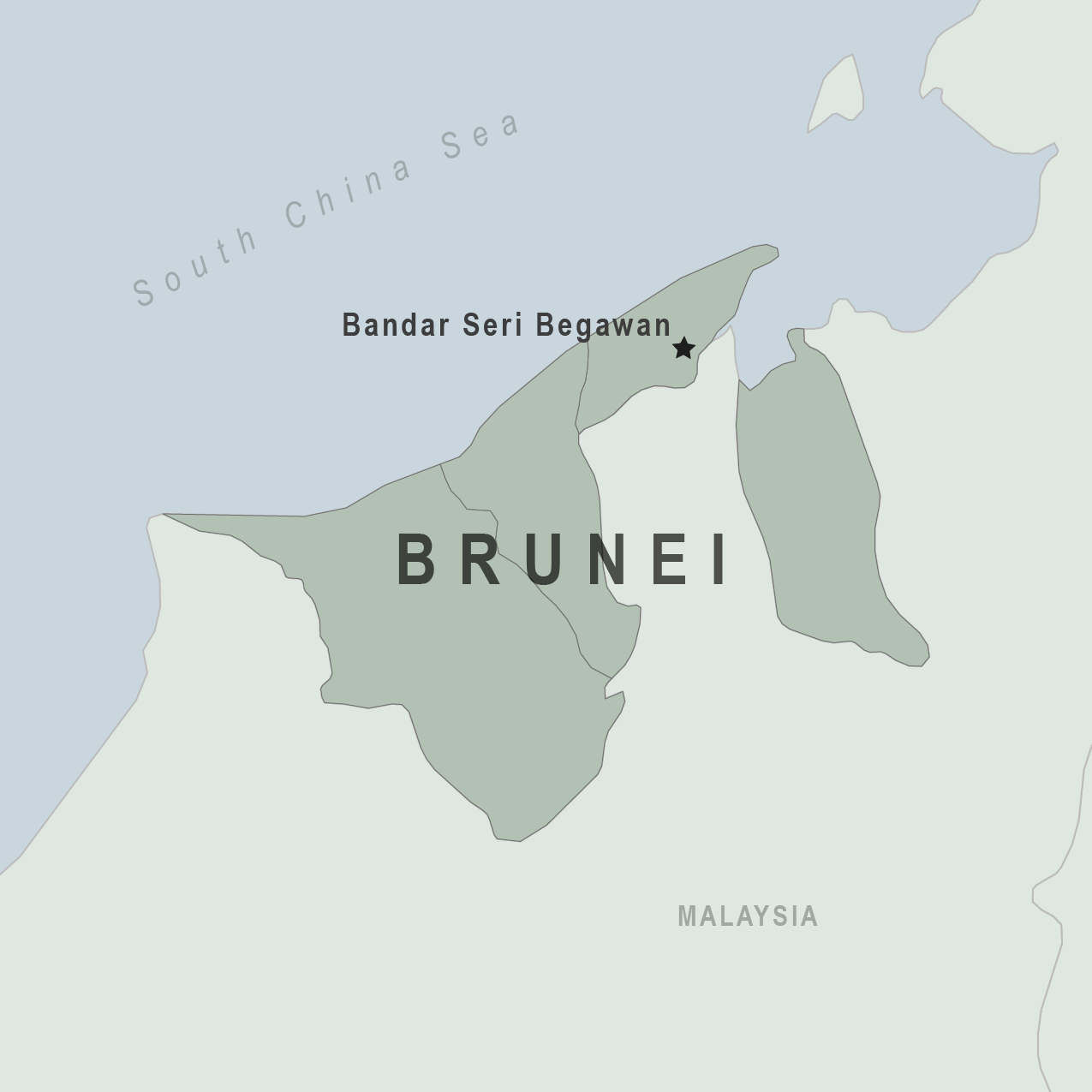Map - Brunei