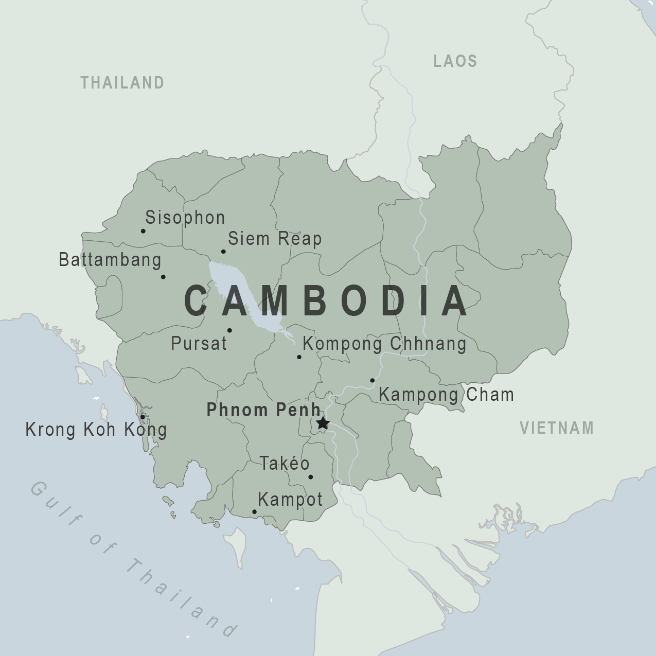 Health Information For Travelers To Cambodia Traveler View - Cambodia map