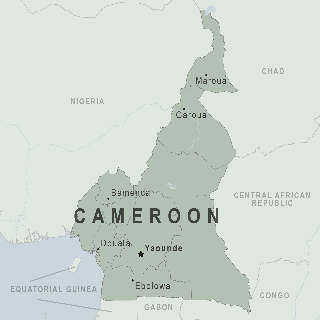 Map - Cameroon