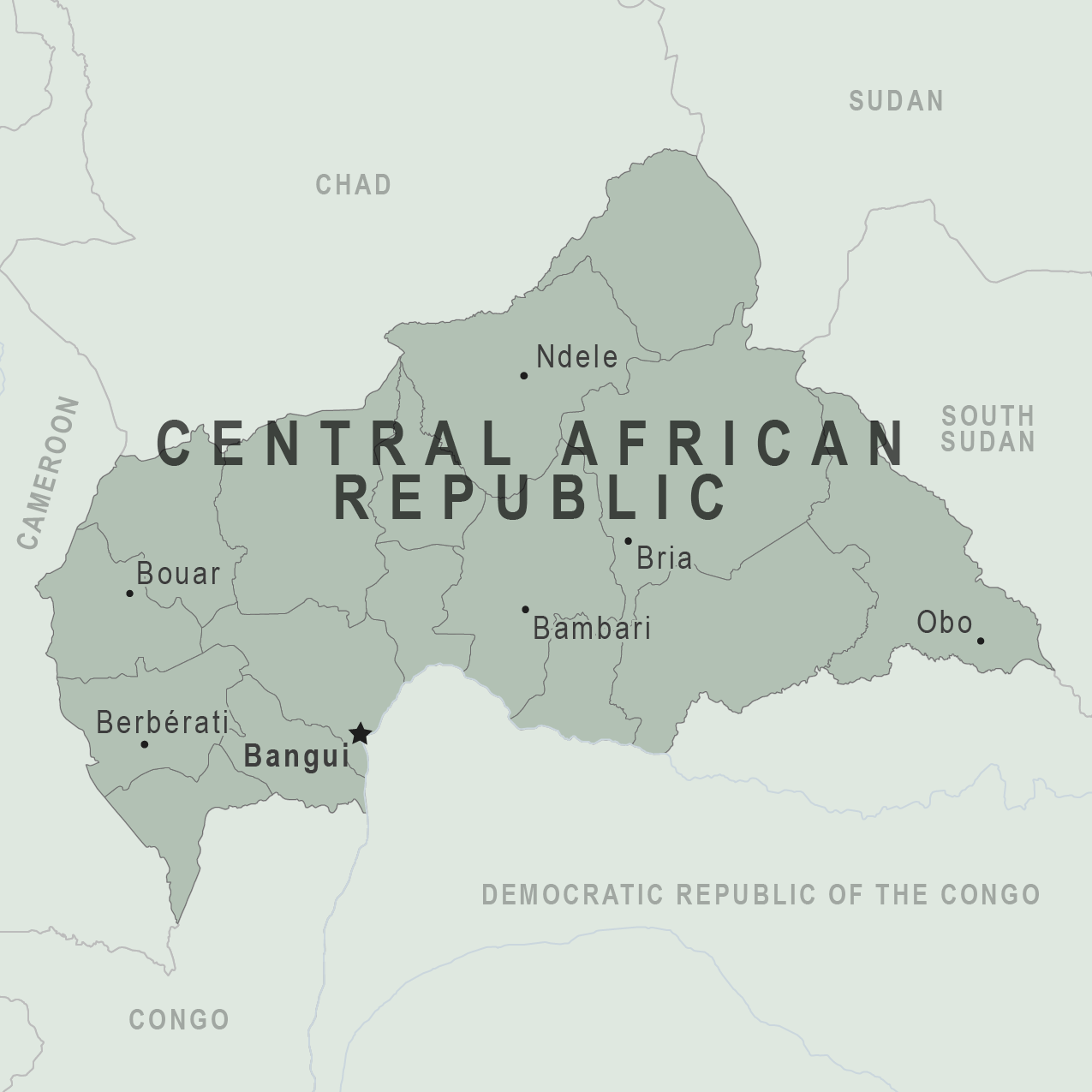 Map - Central African Republic