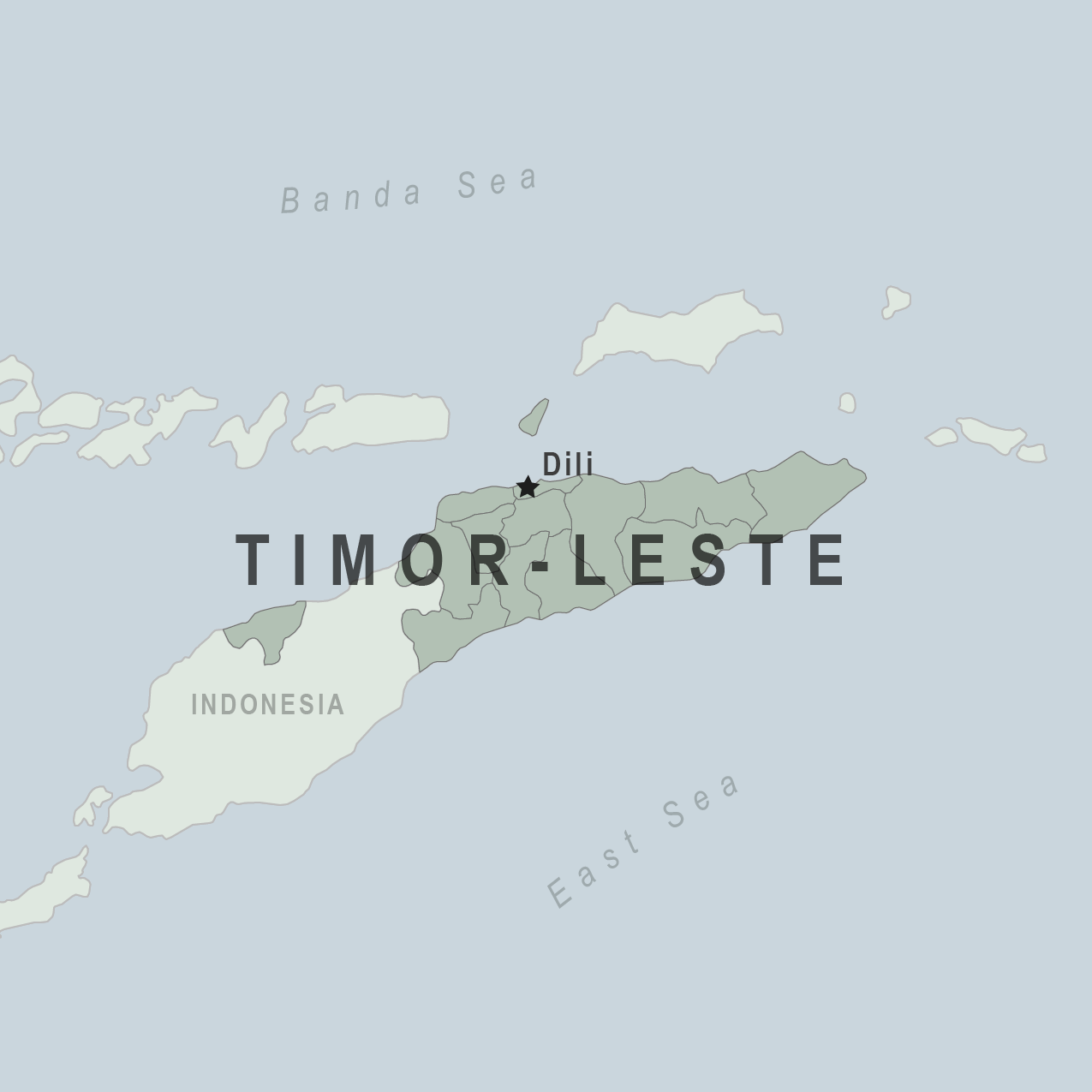 Map - Timor-Leste (East Timor)