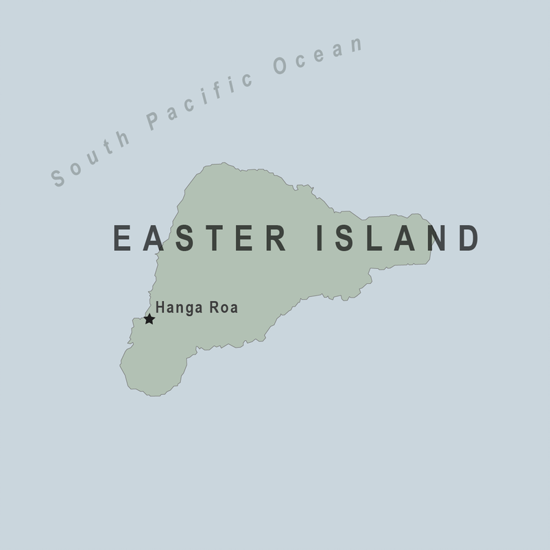 Map - Easter Island (Chile)
