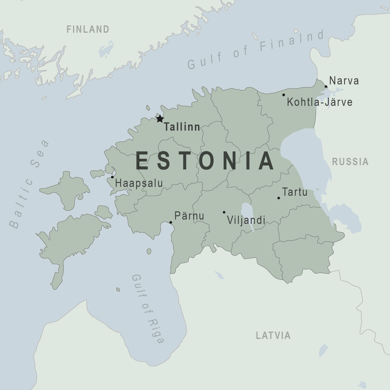 Map - Estonia